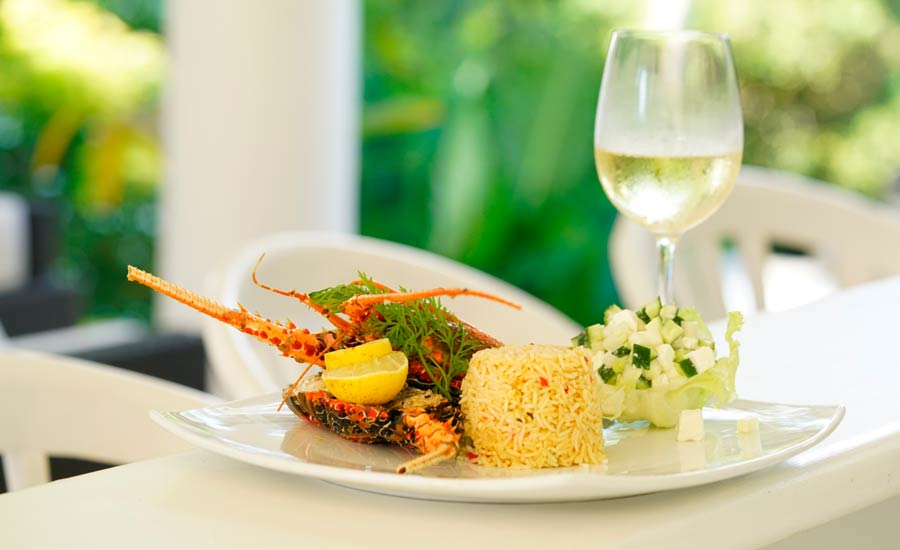 A Tasty Meal with a Champaign at Tamarind Hill Galle Hotel