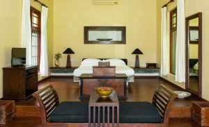 Walawe Jacuzzi Suite Bedroom Interior at The River House Bentota Resort