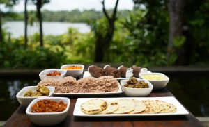 The Sri Lankan Dishes Served at The River House Restaurant in Bentota